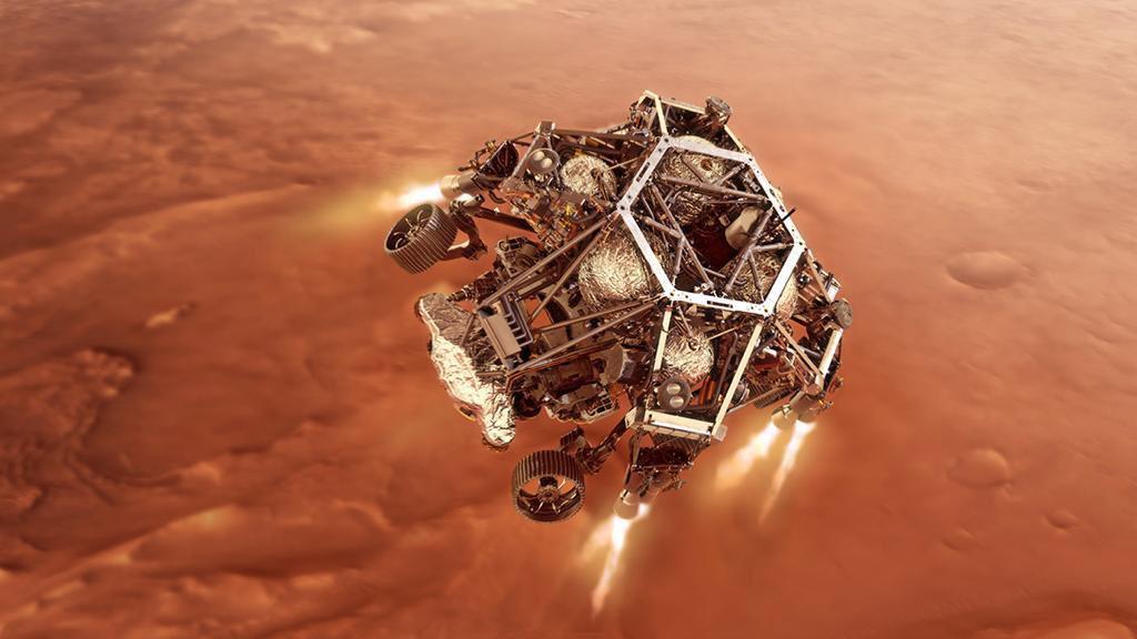 """انضمت اليوم بعثة جديدة من كوكب الأرض للكوكب الأحمر .. نهنىء الولايات المتحدة ووكالة الفضاء الأمريكية بنجاح هبوط مركبتها """"المثابرة"""" على سطح المريخ .. استكشاف علمي مشترك للكوكب الأحمر سيعمق المعرفة البشرية حول أسراره وماضيه ومستقبله"""