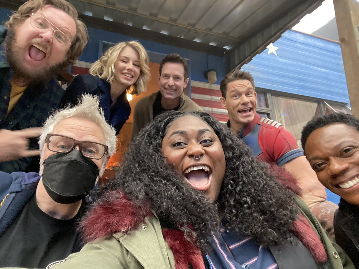 Are you ready for what the #Peacemaker crew is cooking up? @DCPeacemaker @hbomax #teampeacemaker @thedanieb @JohnCena @jennlholland @steveagee @CConradTweets