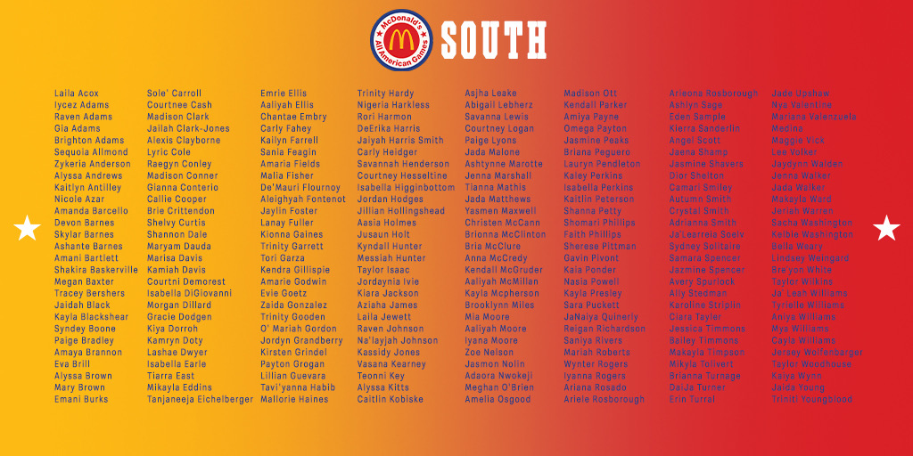 True to the game ⛹️♀️🍔 Congratulations to the Class of 2021 Girls Nominees — tag the first player you see.