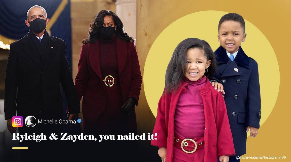 @MichelleObama Ryleigh & Zayden, you nailed it!😍💕  📷: its_allry on IG #BidenHarrisInauguration #BarackAndMichelle #LookALike
