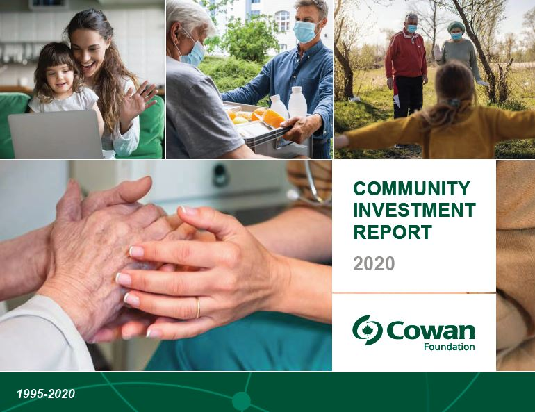 We are pleased to share our 2020 Community Investment Report highlighting some of the incredible work being done by 64 Canadian charities and organizations that received funds this past year. @CowanInsurance