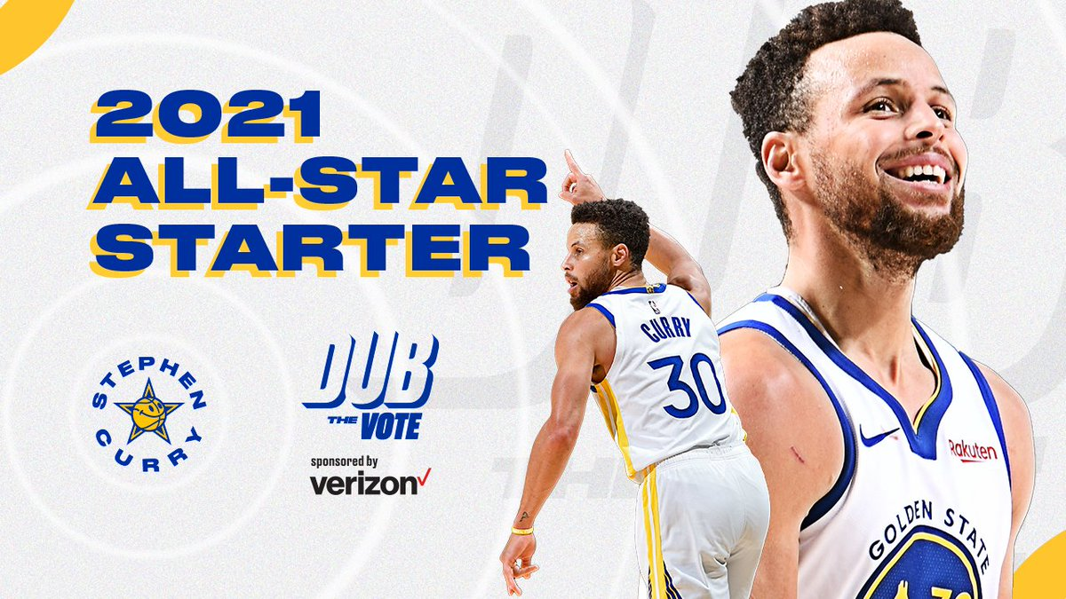 ⭐️ Congrats, Steph! ⭐️  For the seventh time in his career, @StephenCurry30 is an #NBAAllStar