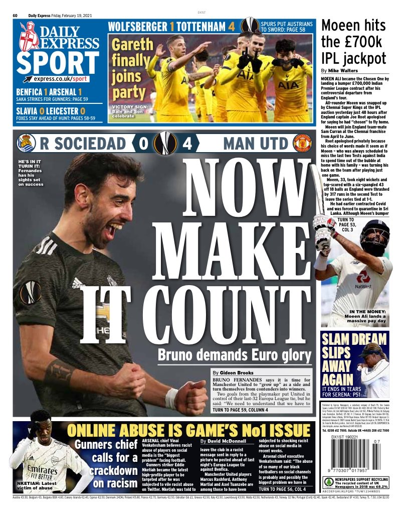 EXPRESS SPORT: Now make it count #TomorrowsPapersToday