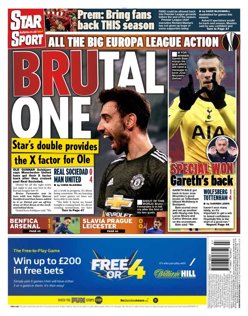 STAR SPORT: Brutal One #TomorrowsPapersToday