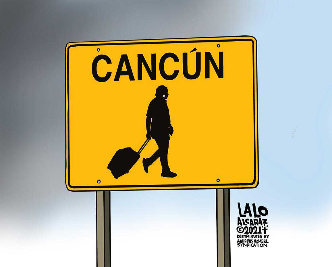 Caution: #CancunCruz Crossing! Please share #laloalcaraz cartoons, especially with @tedcruz! #TexasPowerOutages  #ResignTedCruz https://t.co/jWScWKcj9J