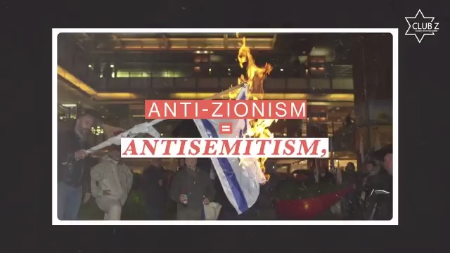 Exactly what I've been saying. Todays antisemitism IS anti-zionism. Thank you @ClubZTeens!