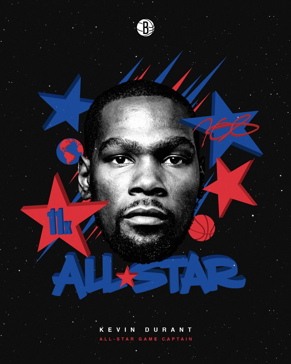 Replying to @BrooklynNets: First season in the East, leading vote-getter in the East.  ⭐️ CAPTAIN KEVIN || @KDTrey5 ⭐️