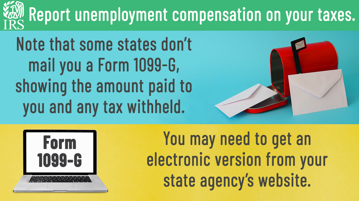 Did you receive unemployment benefits in 2020? Before you file your #IRS tax return, you may need to visit the website of the agency paying the benefits to get your Form 1099-G. irs.gov/uc