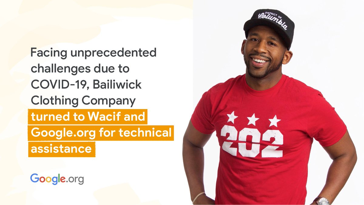 JC and Jeff Smith launched @BailiwickCrewDC to represent and elevate the pride of DC. Facing unprecedented challenges due to #COVID19, they turned to @Wacif, with support from the #GrowWithGoogle Small Business Fund and #GoogleOrg. #BHM