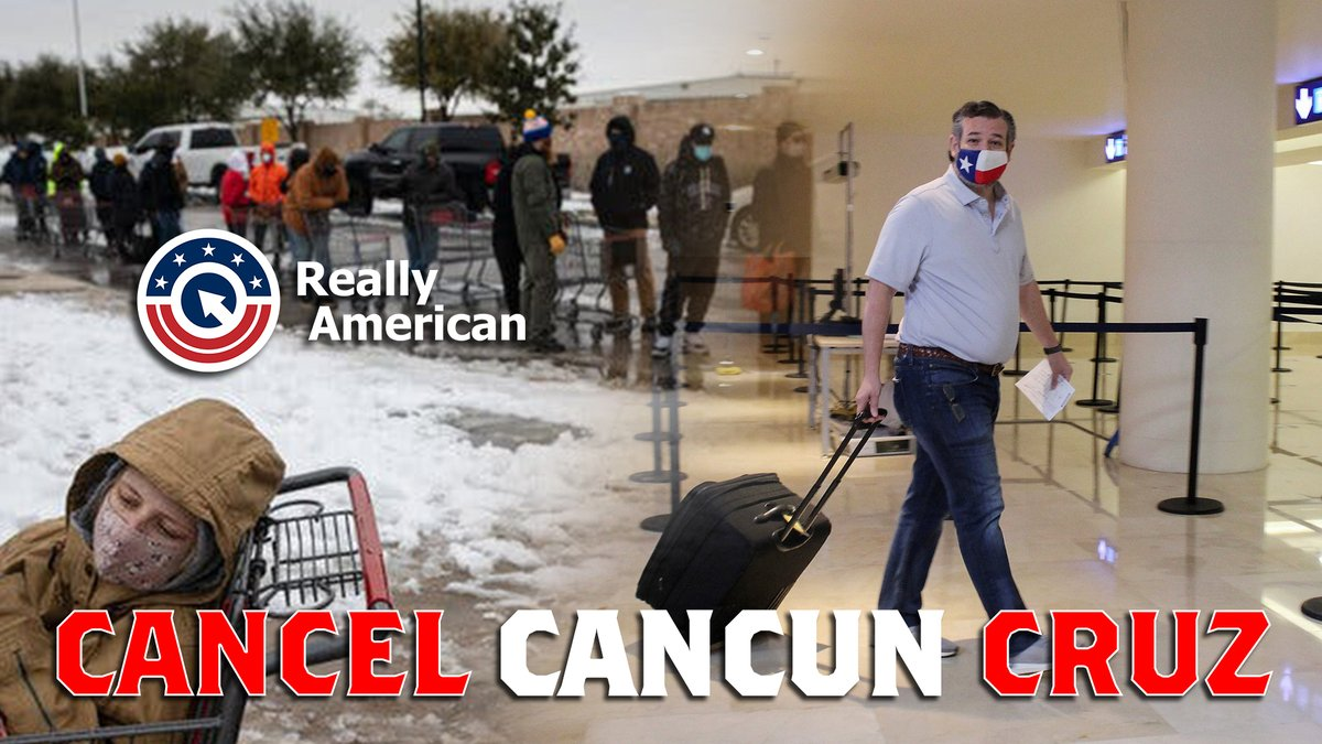 NEW VIDEO: 📺 First, Ted Cruz launched an insurrection against America.  Now he's turned his back on his feller Texans.    It's time to #CancelCancunCruz!