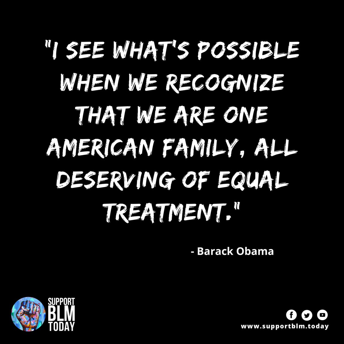 All deserving of equal treatment    #blacklivesmatter #blmquotes #blm #blm2021 #equality #racism #solidarity #blacklives #mlk #blmmovement #nojusticenopeace #blacklivesmatterplaza #blmprotest #blmfist