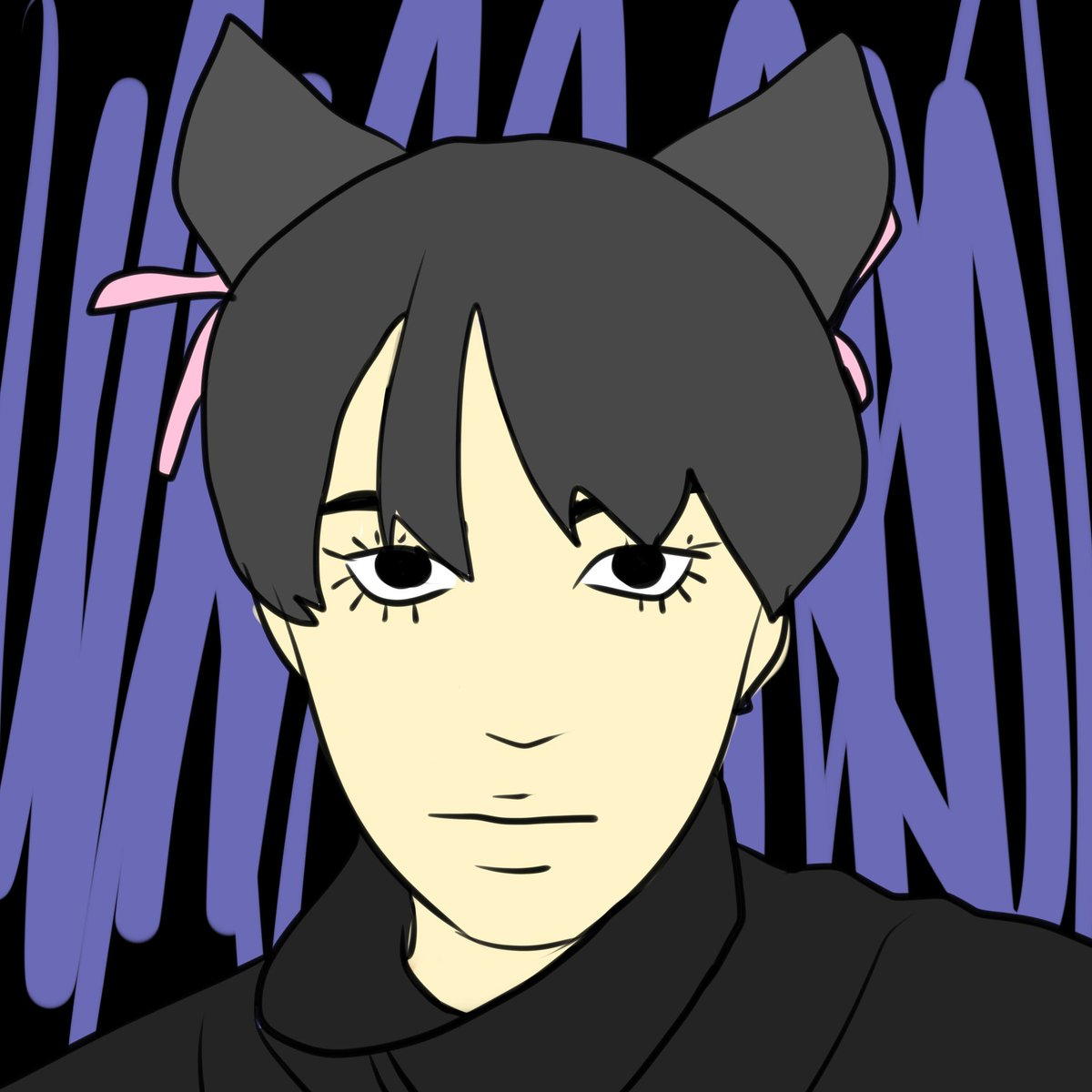 """Am I late for #asianmcyttwtselfieday ??? :""""D here's me (with pp gemoy artstyle)"""