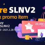 Image for the Tweet beginning: New listing!!! SLNV2 trading has