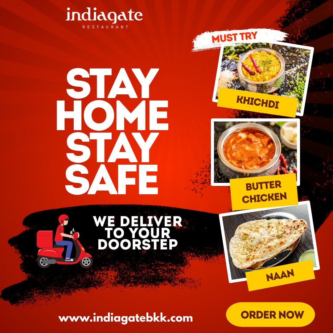 With full safety and precautions, we are delivering food at your doorstep.  So don't miss out on the dishes that you must try here!  Order now!  #IndiaGate #IndianFood #FavoriteFood #Favorite #lunch #dinnertime #safety #safedelivery