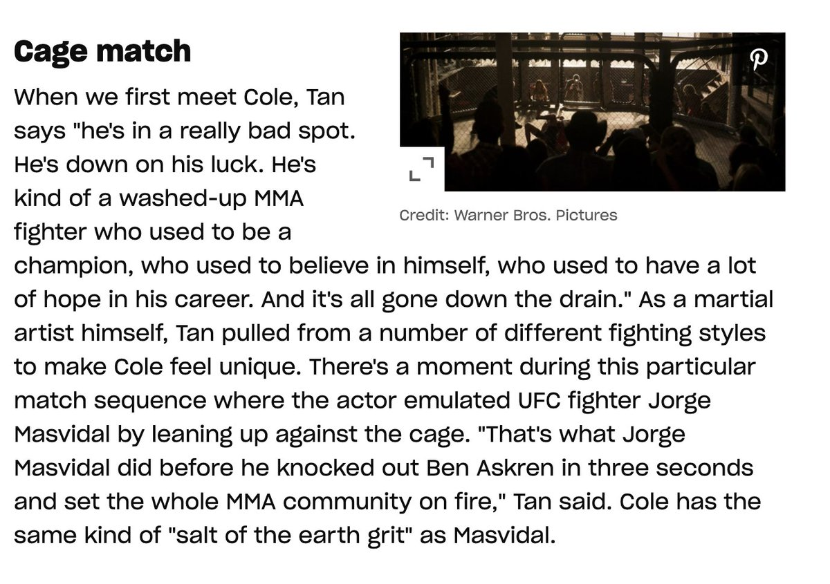 If you watch the new #MortalKombat trailer, the new character Cole Young is an MMA fighter and he actually took his stance in the cage from @GamebredFighter in his fight with Ben Askren while also basing part of his character on Masvidal. From @EW https://t.co/GWE0s8x4xD