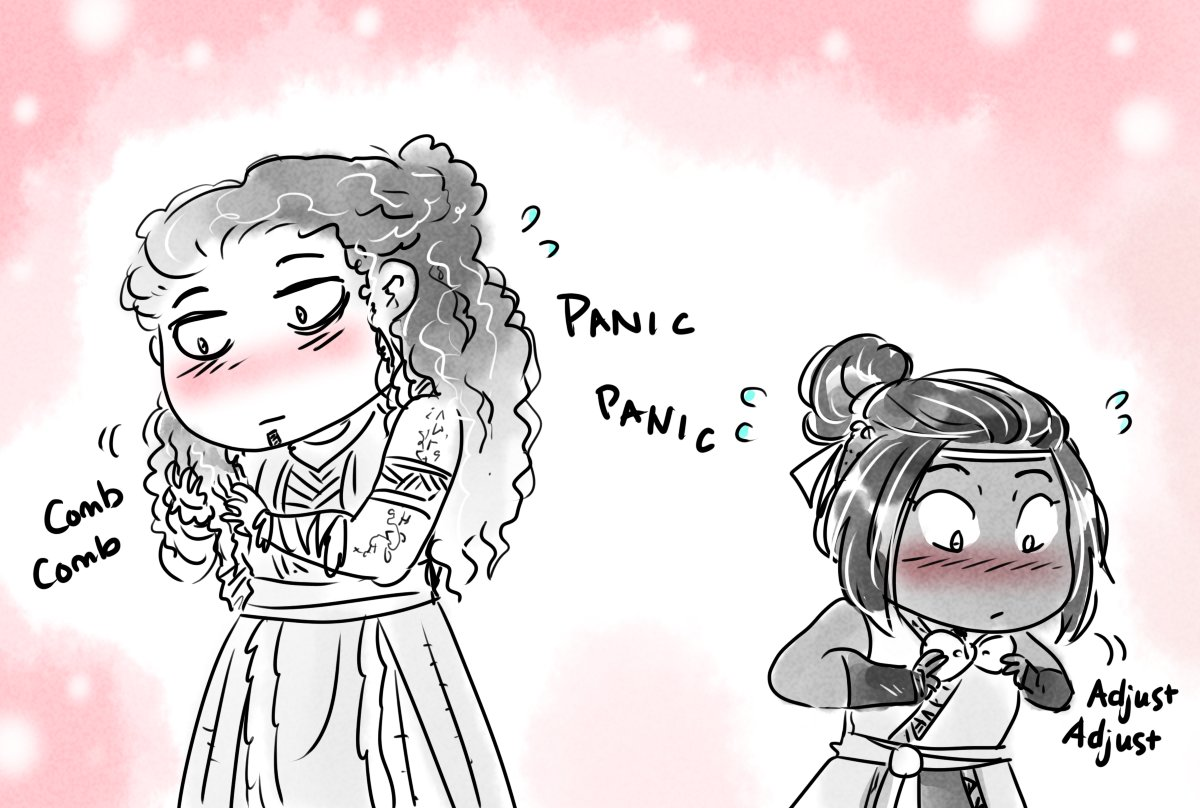 Replying to @TriaElf9: Frantic last minute primping #CriticalRole