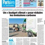 Image for the Tweet beginning: [Lu @LeParisien_92] Le #BudgetClimat fait
