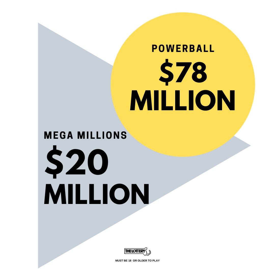 Mega Millions estimated jackpot for Friday, February 19, 2021 drawing. Powerball estimated jackpot for Saturday, February 20, 2021 drawing.  Good luck! https://t.co/PuSVVrw8l9