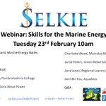 Image for the Tweet beginning: 🆕#Webinar: Skills for the Marine