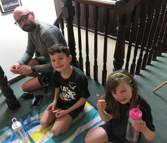 Have you been taking part in our Step Up Challenge?  We'd love to see your pictures. Here's Charlotte, Finley and their family finishing their challenge after raising an incredible £516!   You can still get involved here 👉