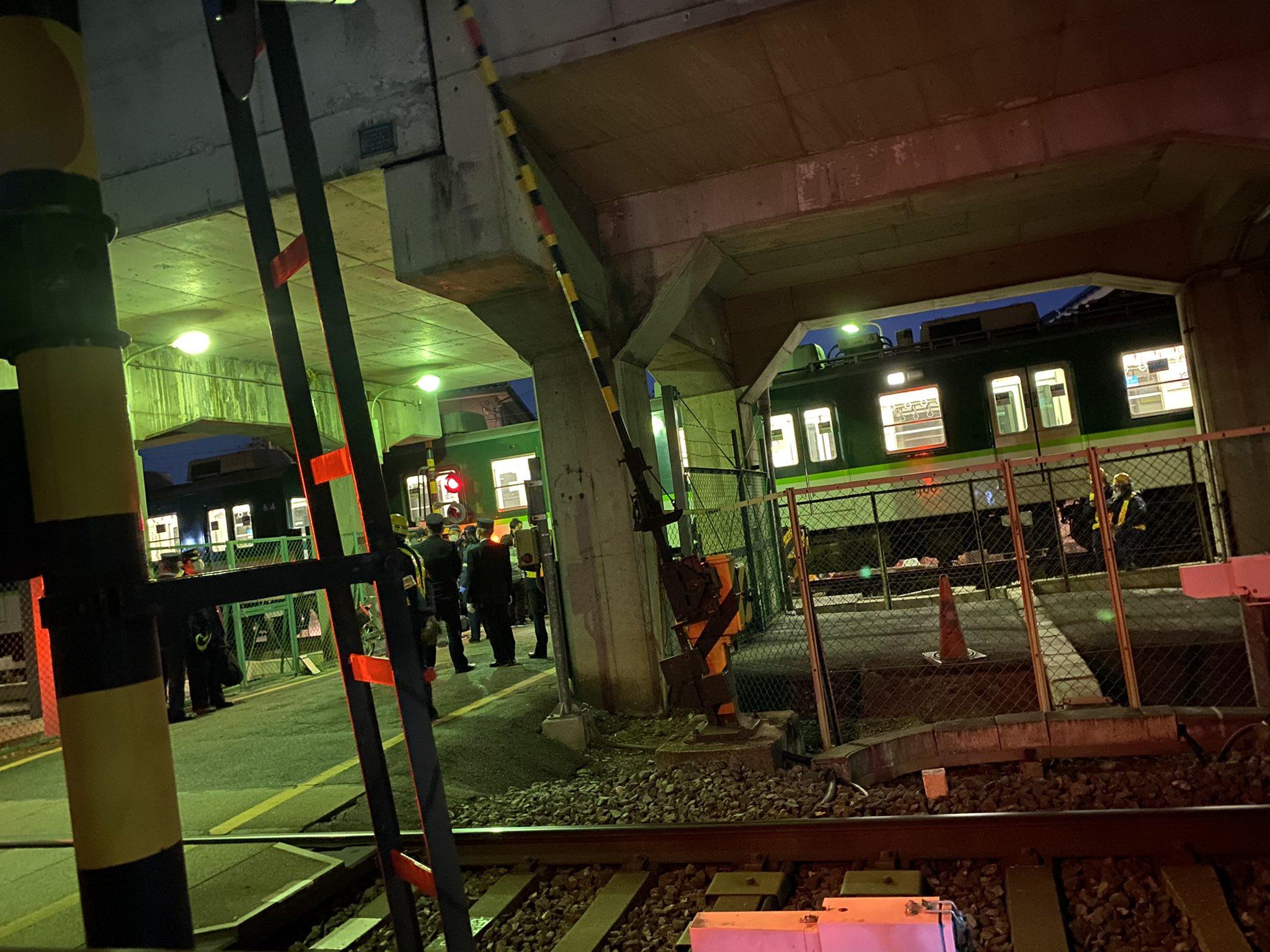 京阪本線の人身事故の画像