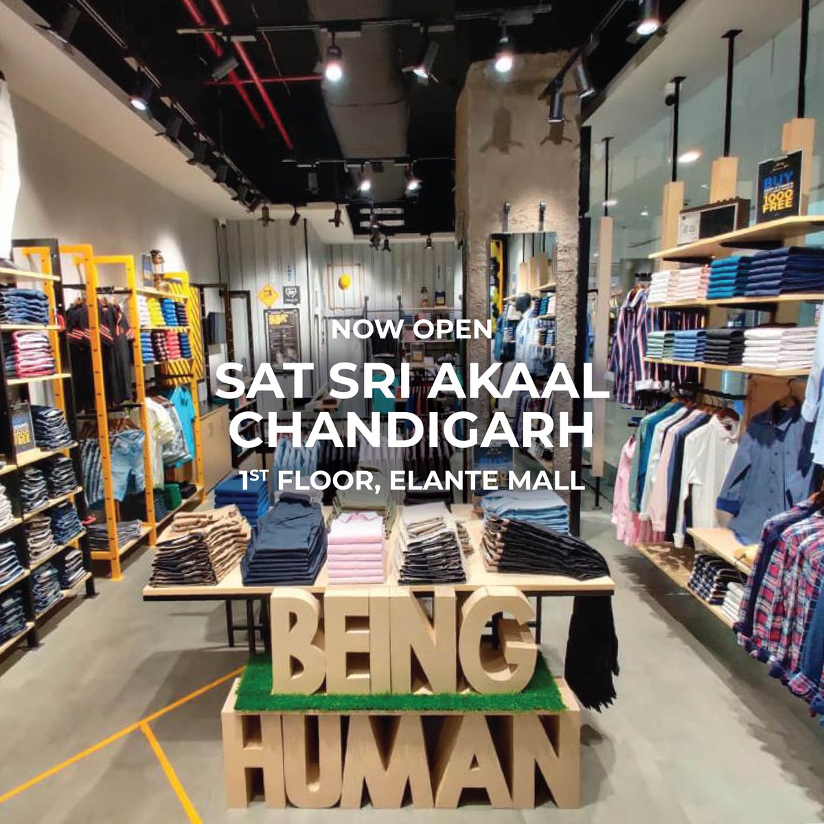 Hello Chandigarh. We are delighted to be back and looking forward to seeing you in the store - 1st Floor, Elante Mall ❤️🤗  #beinghumanclothing #lovecareshare #beinghuman