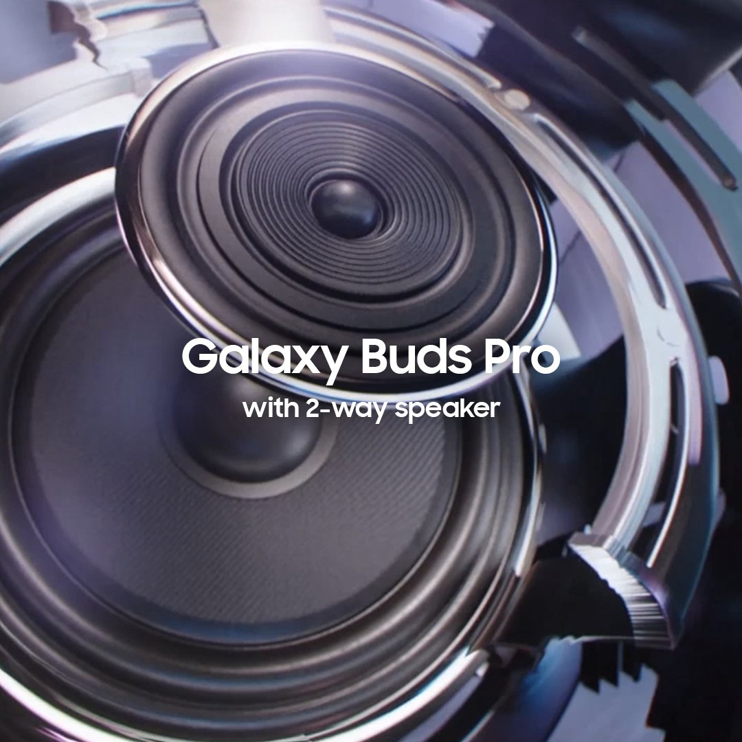 Introducing Galaxy Buds Pro. With a 2-Way speaker in each earbud, it's like putting a sound studio in your ear.  Learn more: