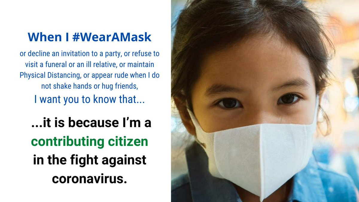 #COVID19   #WearAMask to become a contributing citizen in the fight against #Coronavirus 👊  #Unite2FightCorona #WearAMaskSaveALife