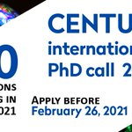 ⏰ You have one week left to apply to CENTURI's #PhDJobOffer 2021!  For more info ➡   🗓 Deadline: February 26 https://t.co/ayWjWLBQcJ
