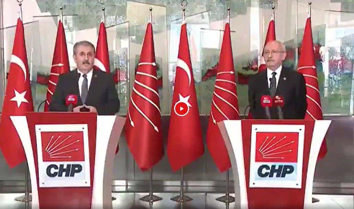 """Eemir Bereket on Twitter: """"BBP Genel Başkanı Mustafa Destici, Kemal  Kılıçdaroğlu ile yaptığı ortak basın toplantısında bu ifadeleri kullandı; """"Ha  Kandil'de Karayılan ha Meclis sıralarında oturan kara çiyan; ha Duran  Kalkan ha"""