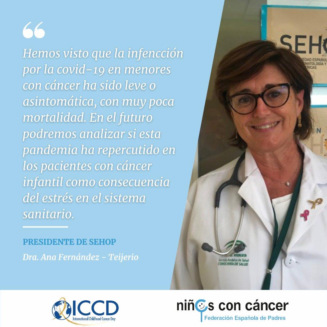 🦠A pesar de que la pandemia ha supuesto un riesgo añadido para los menores con cáncer lo cierto la Dra. @TeijeiroAna 🩺 nos aportó un dato esperanzador en el acto por el #DiaInternacionaldelCancerInfantil