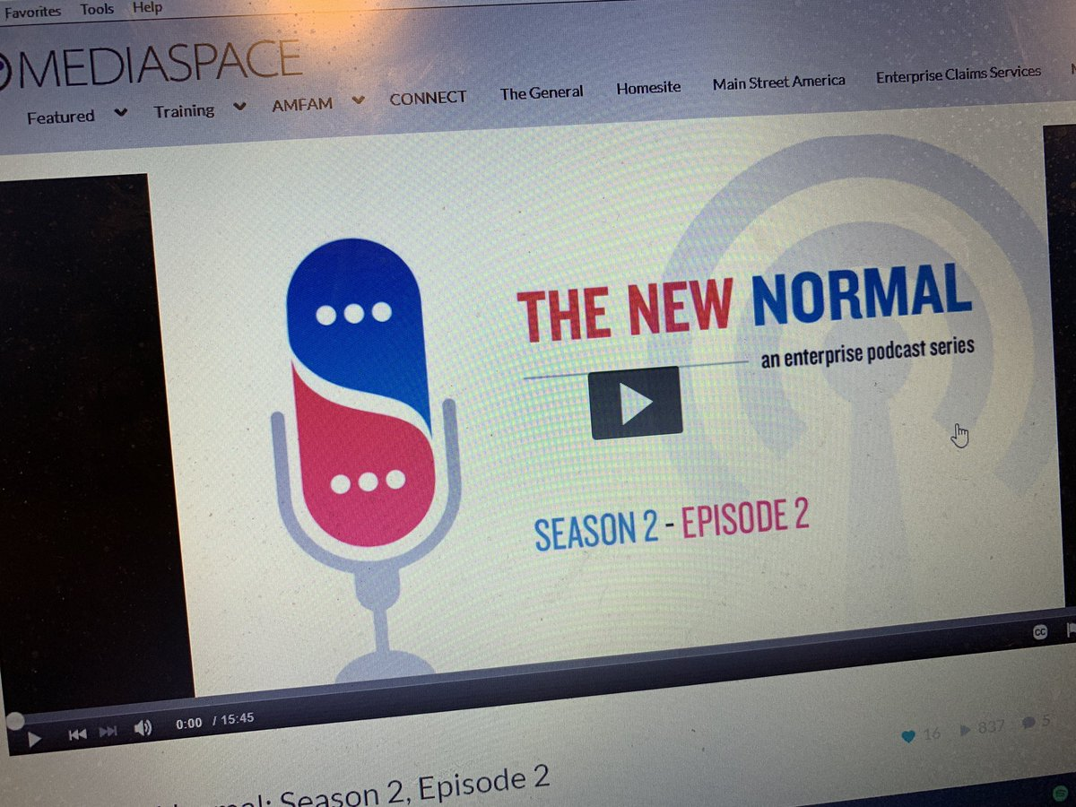 Looking for a way to wake up?✅ Work at the #amfam enterprise?✅ Curious about what the office will be like when you go back? ✅  Go to Compass and listen to the latest #newnormal podcast. 👌🎤🎧  Retweet if you've already heard it!