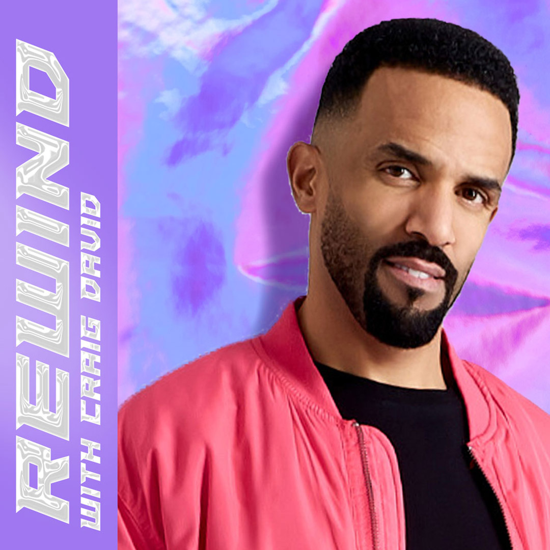 What's your favourite song by @CraigDavid..? 🤔🎤  Join Craig as he looks back at his biggest bops, and selects throwback tracks from his favourite artists.   Listen to Rewind on BBC Sounds 🎧