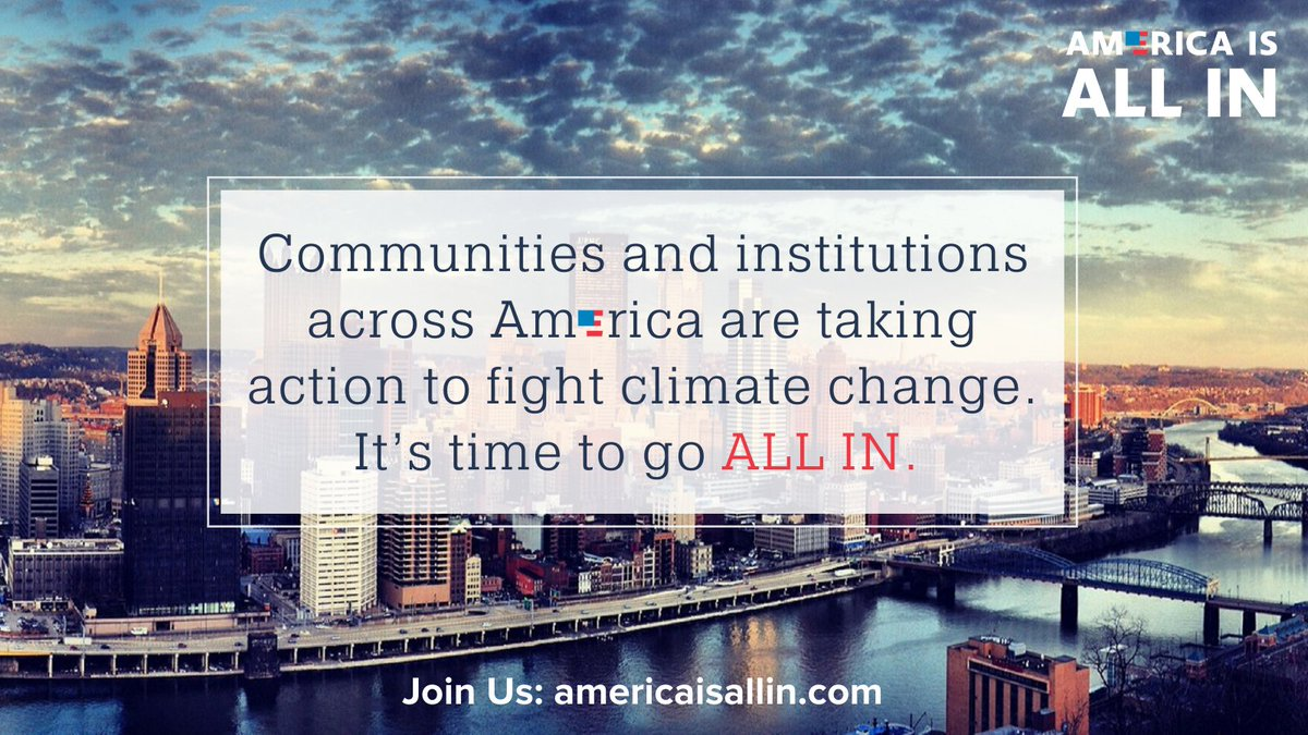 Today, the U.S. formally re-enters the #ParisAgreement and #AmericaIsAllIn launches a national mobilization for climate action. Thousands of local leaders from across the country say it's time to go #AllInOnClimate.