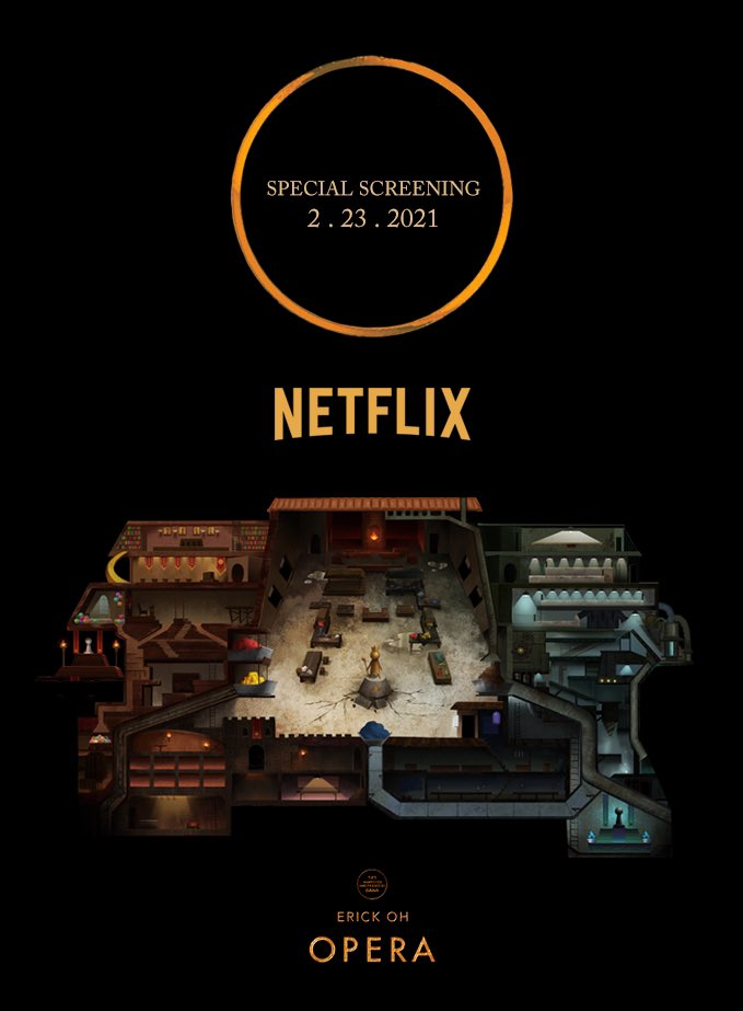 Internal screening and talk for @netflix employees and artists next Tuesday 1pm! Myself, Celine You(art director) and Andrew Vernon(composer) will share the experience of making @operamundi2021 . Please tell your Netflix friends to join us! #theacademy #ampas