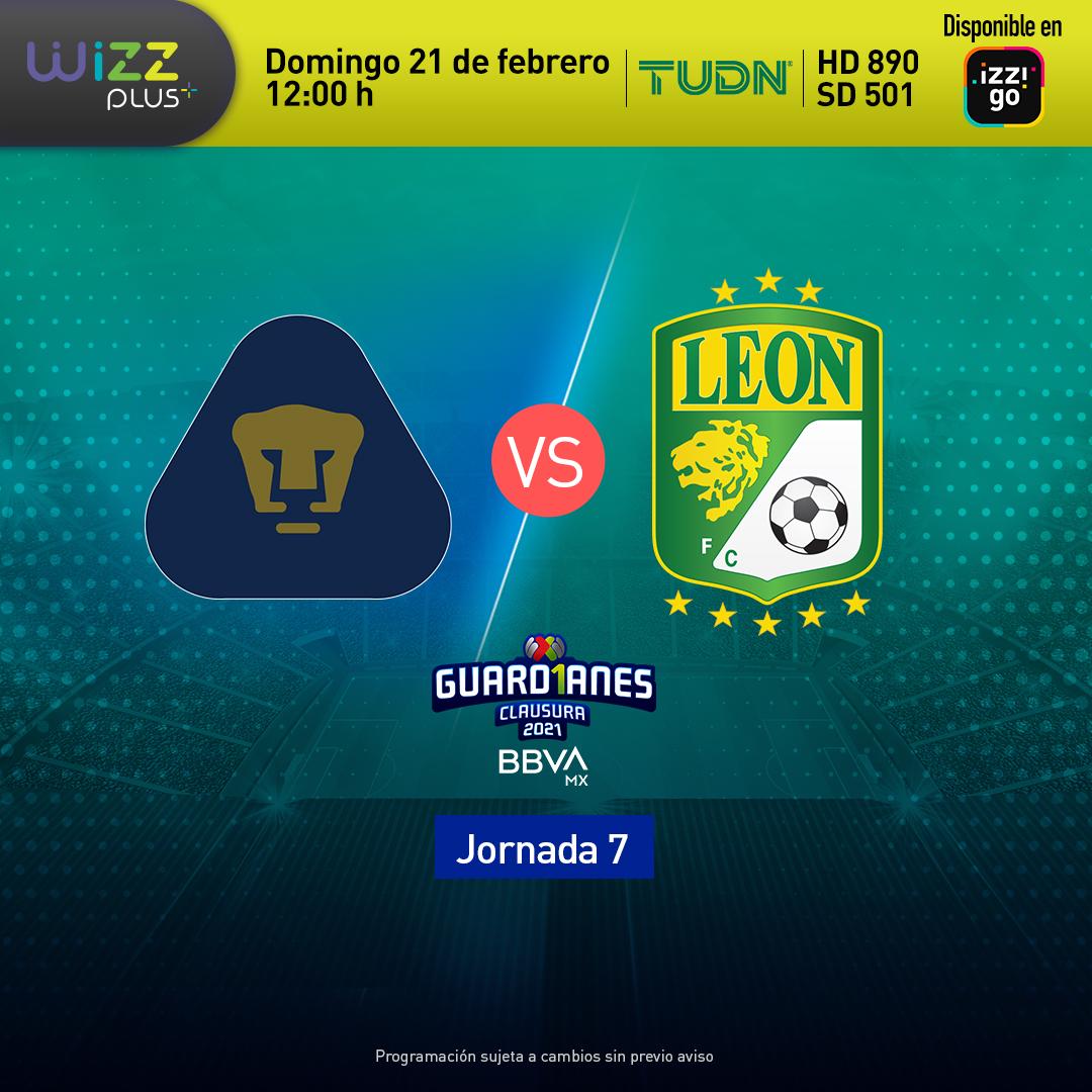 ⚽ ¡Domingo de futbol mexicano! No te pierdas el encuentro de Pumas contra León por TUDN. 🐾 https://t.co/sBj3RgH6xI