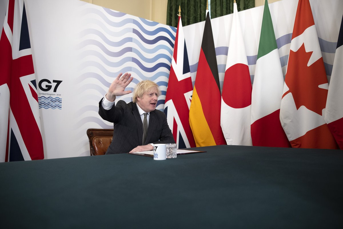 The G7 is the great gathering of like-minded, liberal, free-trading democracies. We stand together on many issues around the world. I look forward to working closely together ahead of the @G7 summit in Cornwall in June.