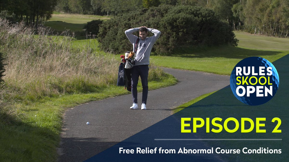 Found yourself in an abnormal lie on the golf course? ⛳️  Our expert commentary team explain the do's and don'ts when taking relief in Episode 2 of The Rules Skool Open 👉