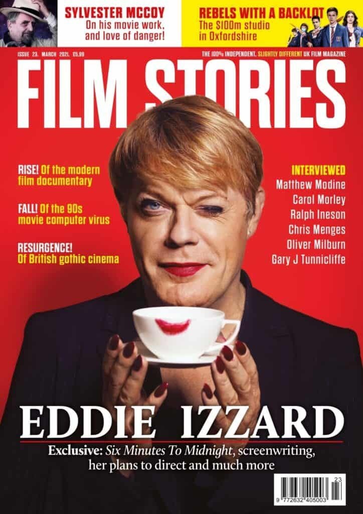 The brand new issue of Film Stories magazine - issue 23 - is back from the printers next week. Available for preorder now - and it leads with the brilliant @eddieizzard! More details and order a copy right here...
