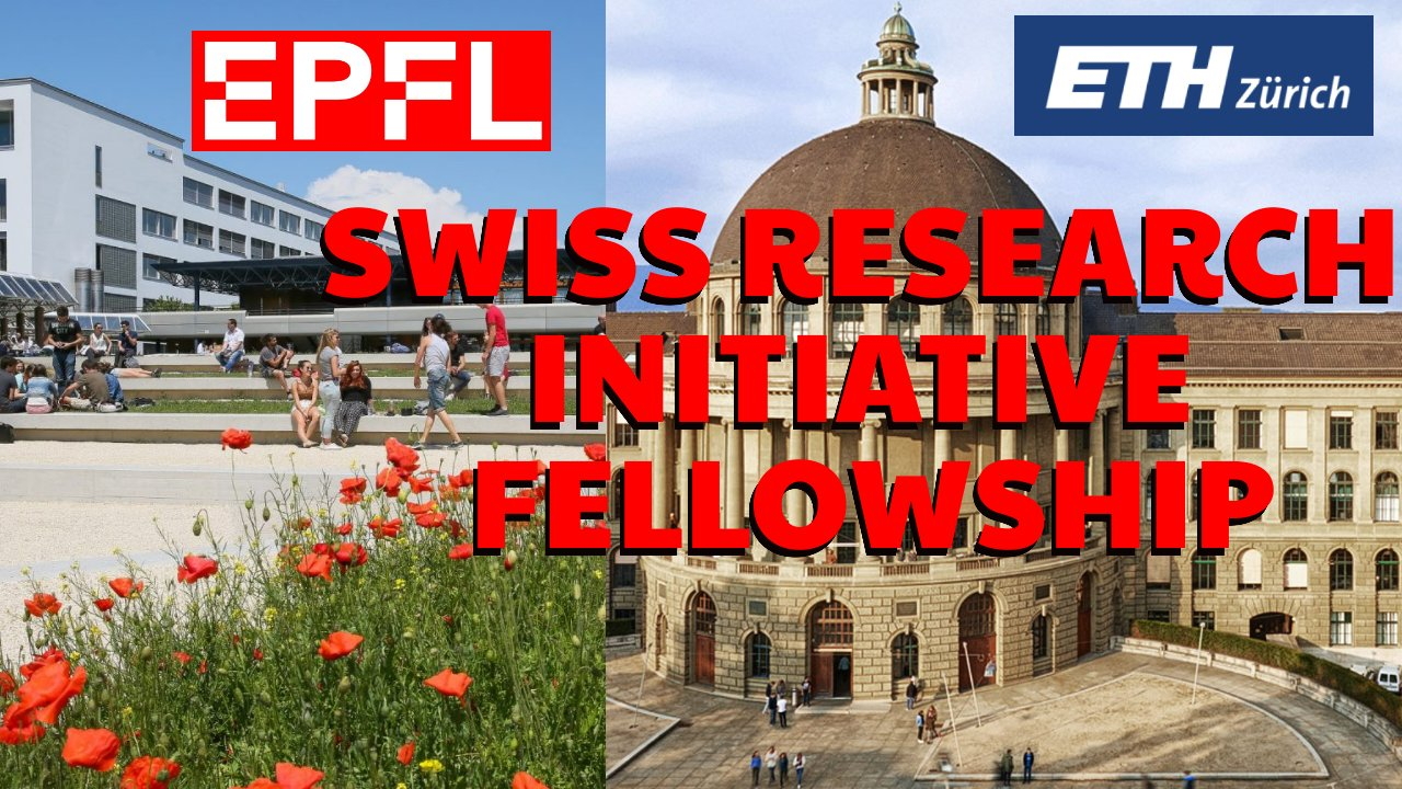 Swiss Research Initiative Fellowship 2021 in ETH Zurich and EPFL, Switzerland