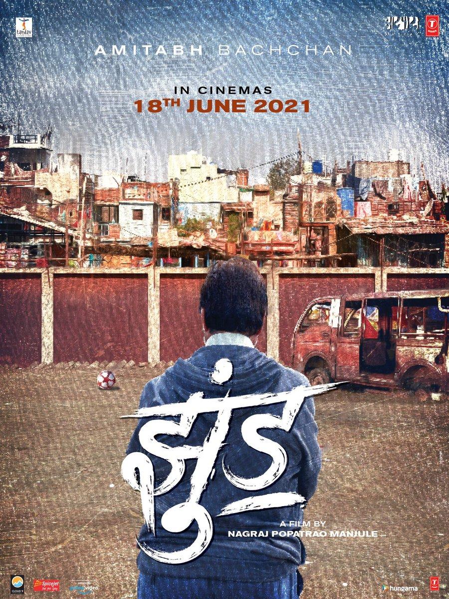 #JHUND Releasing on 18 June 2021.  Starring @SrBachchan  Directed by #NagrajPopatrao  Produced by #BhushanKumar @TSeries #KrishnaKumar #RaajHiremath #SavitaRajHiremath #NagrajManjule #GargeeKulkarni  #SandipSSingh #MeenuAroraa