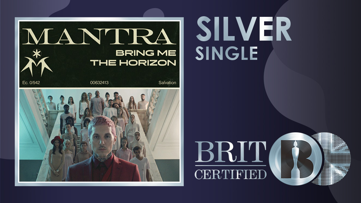 🙌 @bmthofficial's 'MANTRA' has gone #BRITcertified Silver! 💿