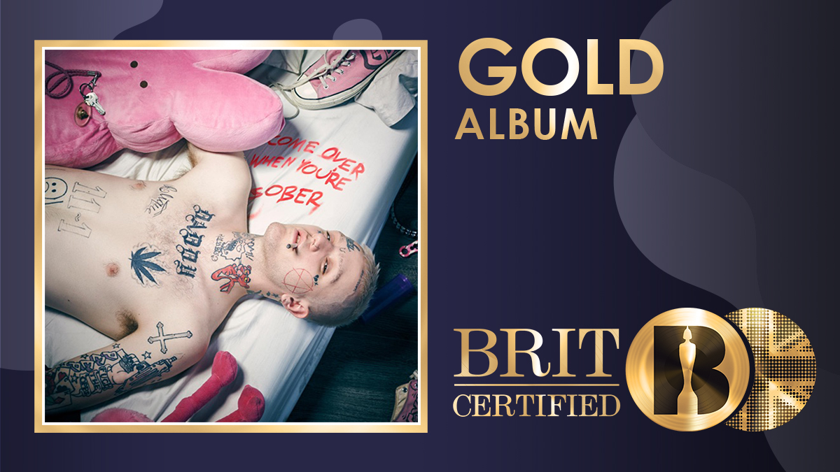 ❤️ 'Come Over When You're Sober, Pt. 1', the debut album from Lil Peep, is now #BRITcertified Gold. 📀