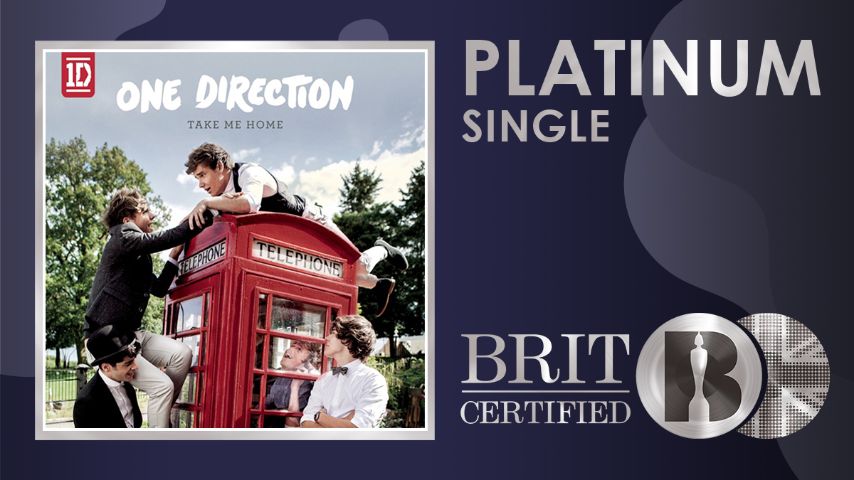 😘 Taken from their second studio album 'Take Me Home', @onedirection's 'Kiss You' has gone #BRITcertified Platinum! 💿