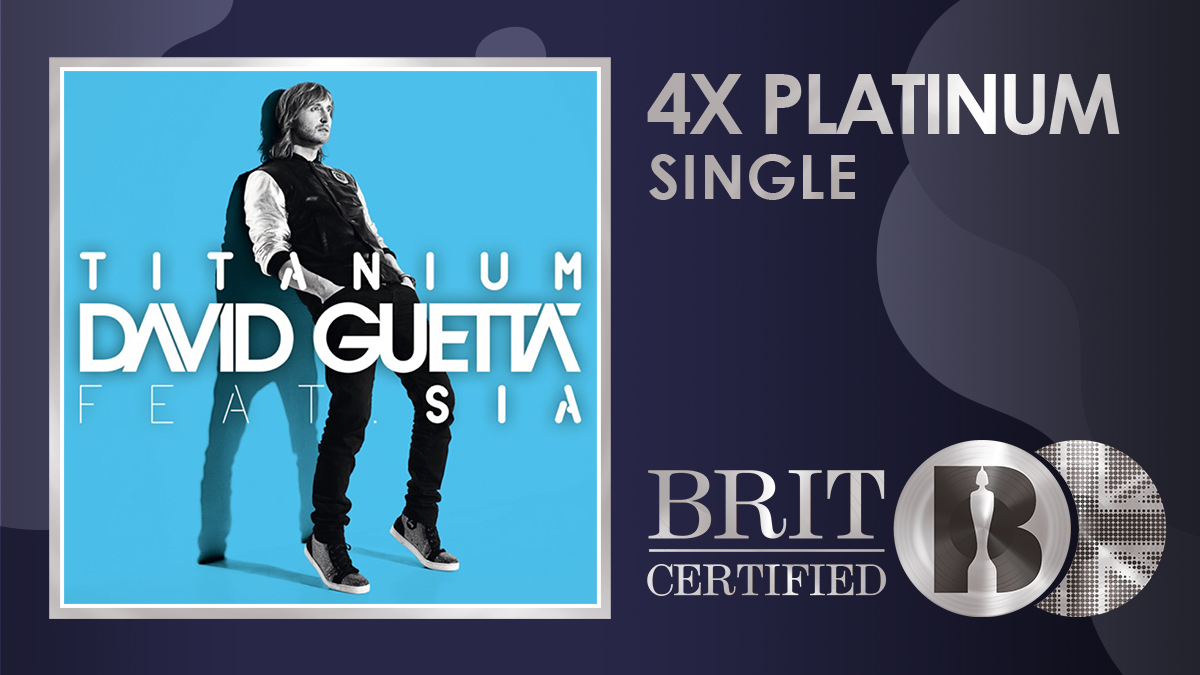 ⚡️ It turns ten years old later this year, and now @davidguetta's 'Titanium' featuring Sia is #BRITcertified 4x Platinum! 💿💿💿💿