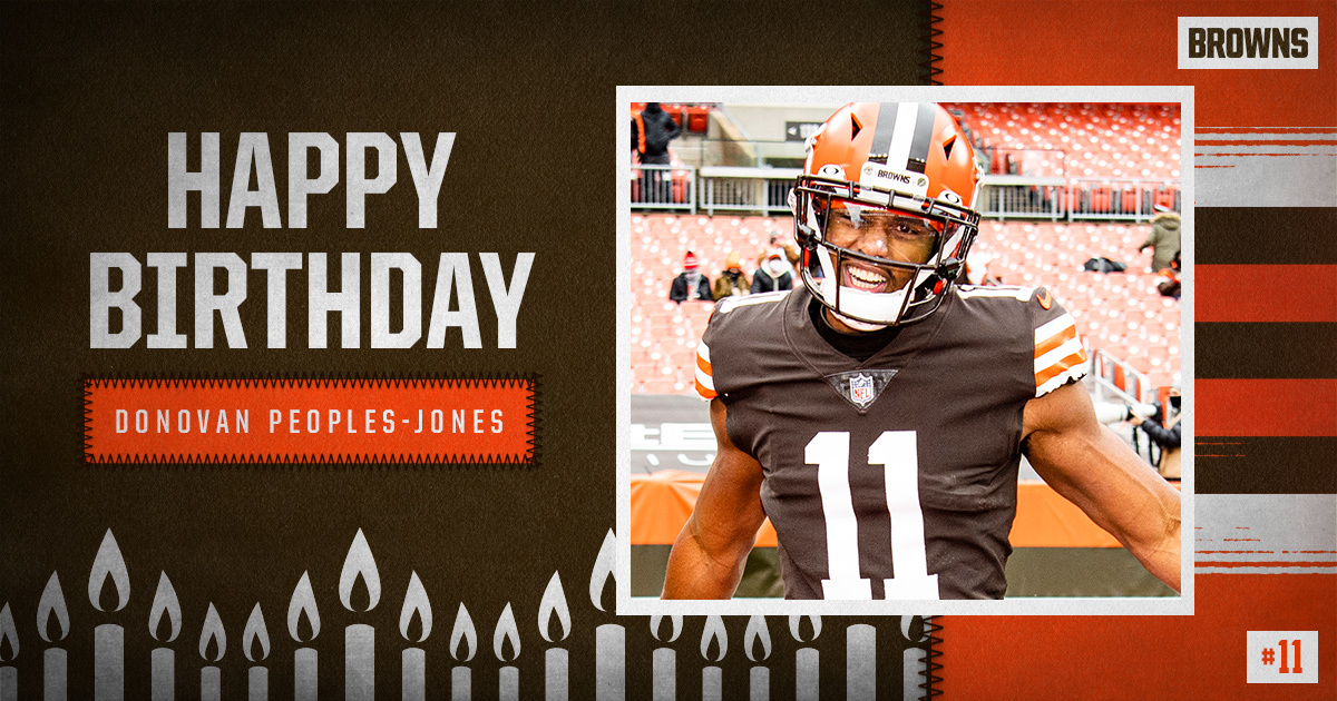 Replying to @Browns: RT to wish @dpeoplesjones a Happy Birthday! 🥳