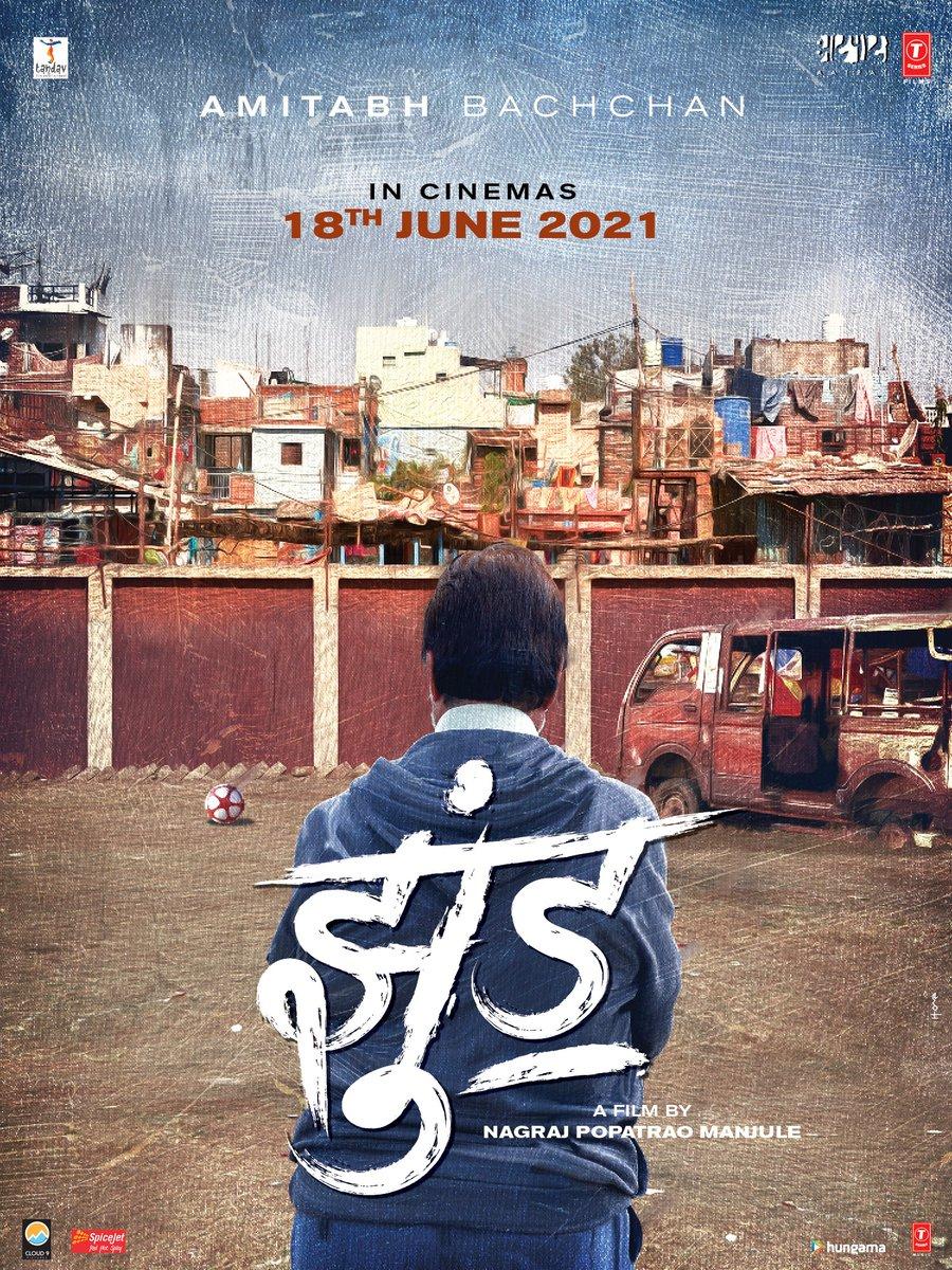 #Jhund movie official poster!  @SrBachchan #BhushanKumar #KrishanKumar #RaajHiremath #SavitaRajHiremath #GargeeKulkarni #SandipSsingh #MeenuAroraa @AjayAtulOnline @aatpaat
