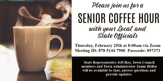 Town of Franklin, MA: Senior Center Coffee rescheduled - 2/25/21