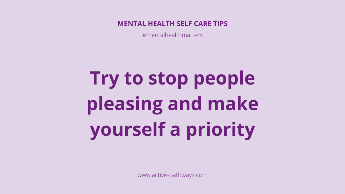 Try to stop people pleasing and make yourself a priority 🌟 #occupationaltherapy #rehabilitation #rehab #mentalhealth #mentalhealthmatters #mentalhealthadvocate #dailymotivation #mentalhealthrecovery #keyworkers #recovery
