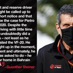 """""""We look forward to working with Pietro and having him with us again throughout the year.""""  #HaasF1"""